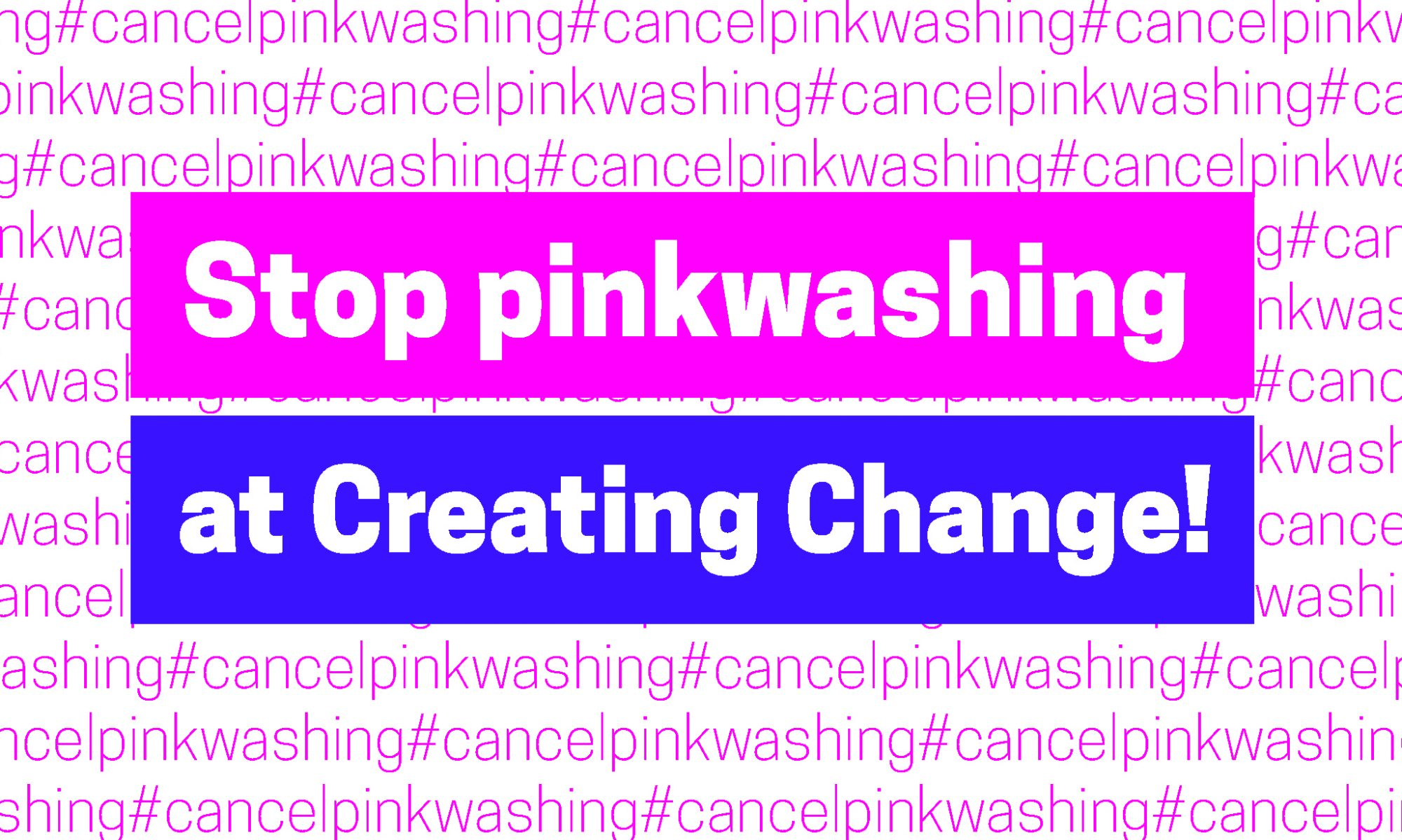 #CancelPinkwashing